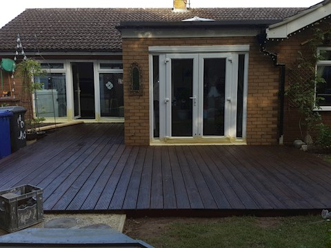 Decking Getting its First Treatment of Oil Protection (During)