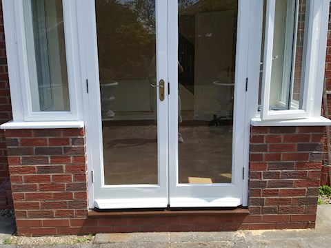 A Lot of Repair to French Doors, Mildenhall (During)