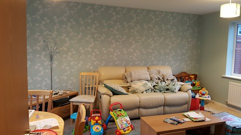 Feature Wallpaper, Red Lodge (After)
