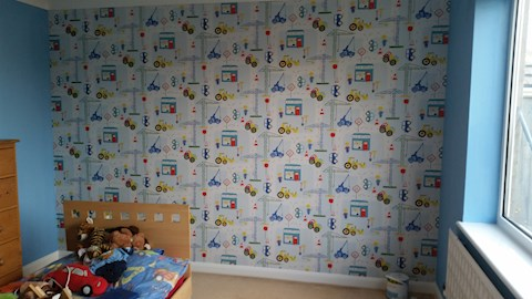 Decorations and Feature Wall, Mildenhall (After)