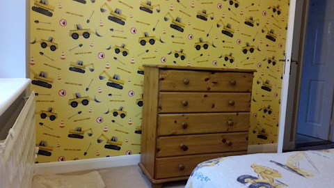 Feature Wall, Mildenhall (After)