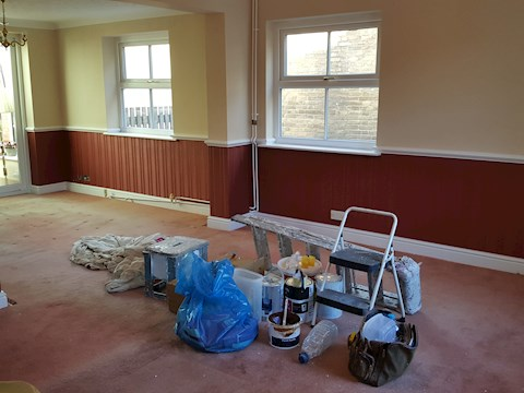 Wallpapering, Cottenham (During)