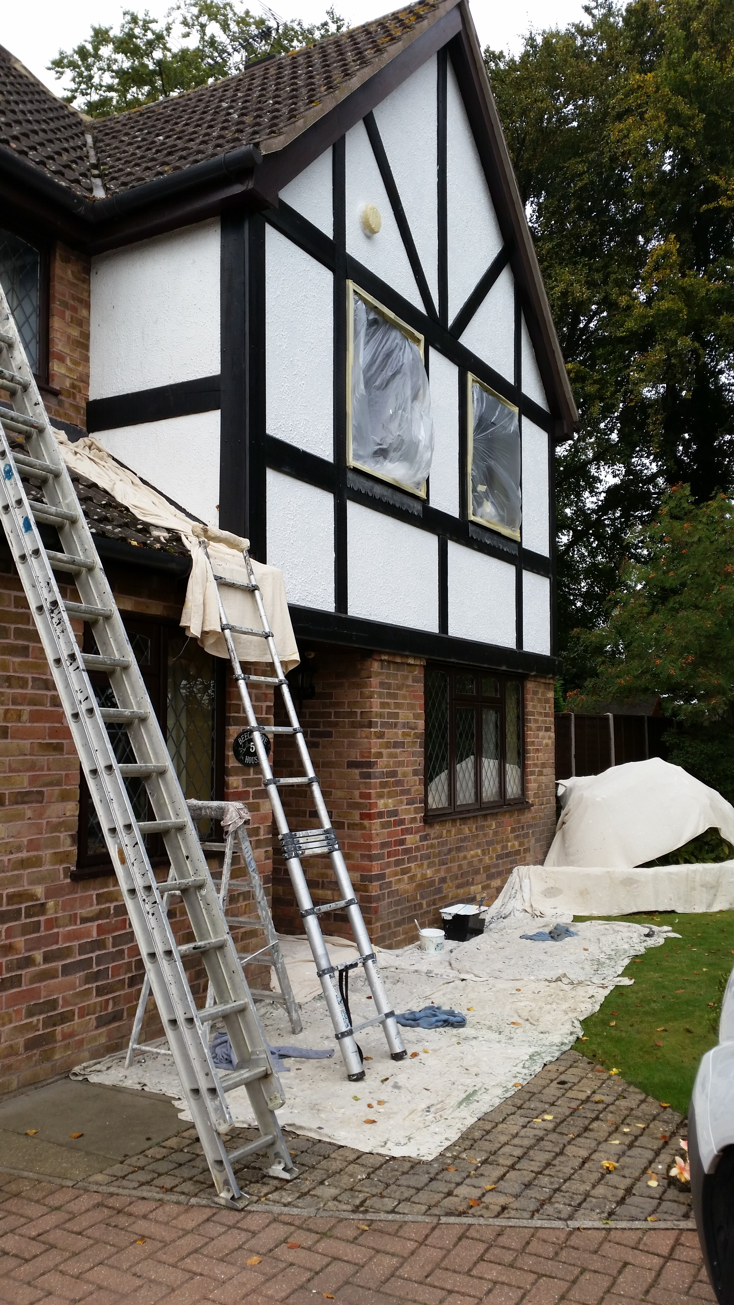 Some Tudor-style external work 1